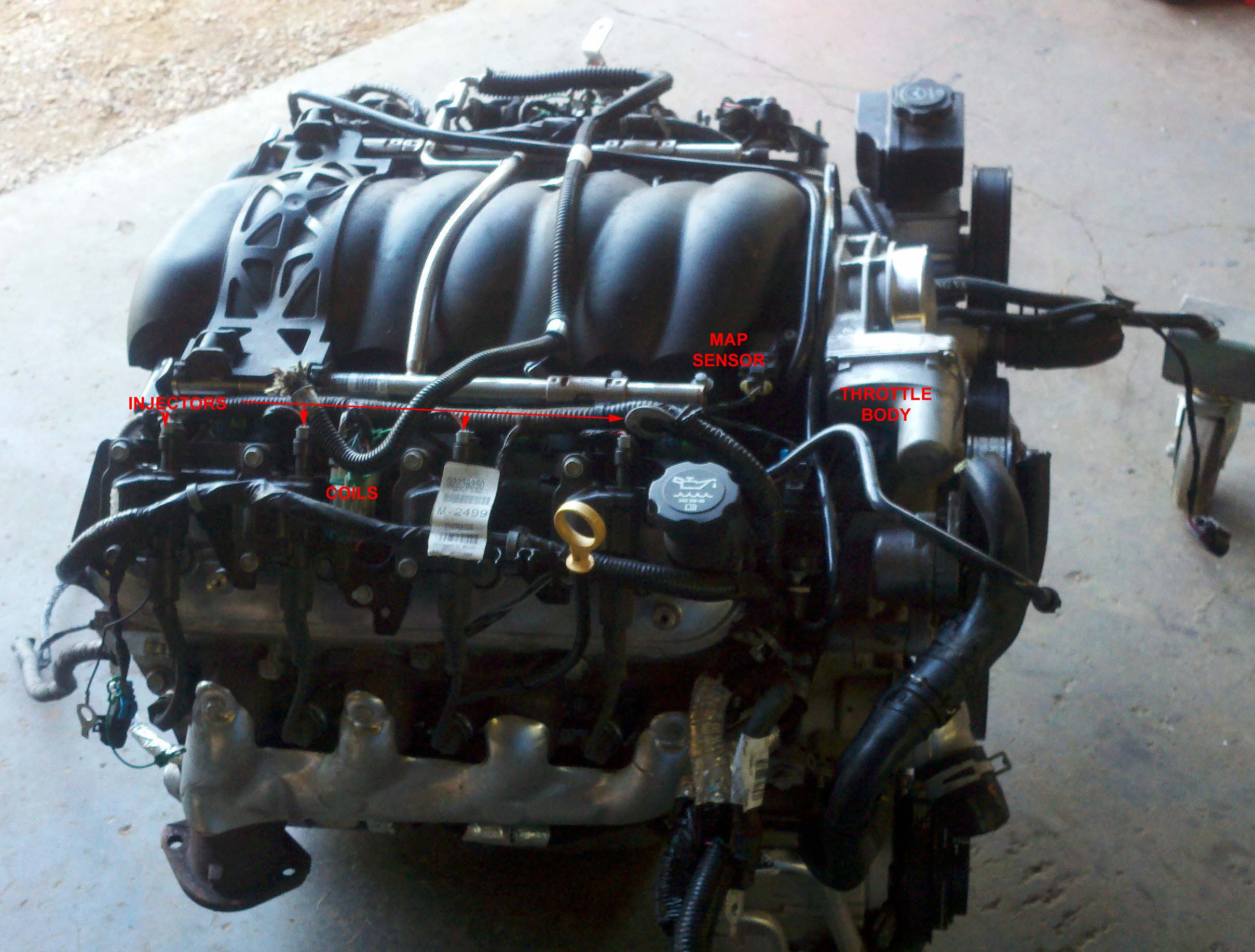 We have kept the VVT and DOD on this engine, and done away with Rear O2's,  Transmission wires, EVAP, Brake Booster Vacuum Sensor, A/C Wiring.