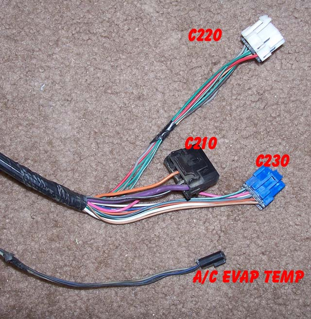 Lt Connectors on Lt1 Engine Wiring Harness